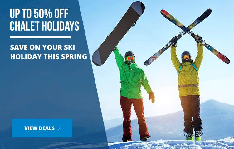 Up to 50% off chalet holidays