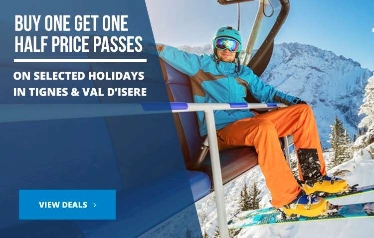 Buy one get one half price lift passes