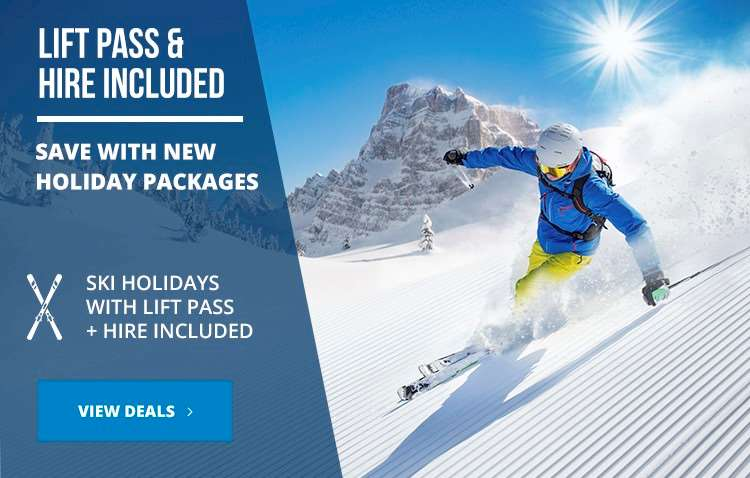 New ski packages with lift pass and skit hire included