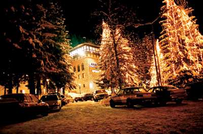 Sport hotel by night