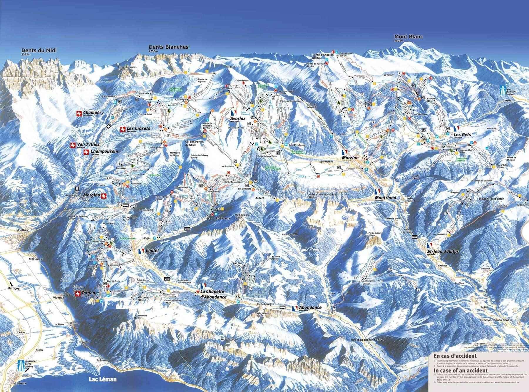 Avoriaz Piste Map Iglu Ski
