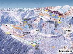 La Massana piste map