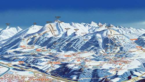 Innsbruck piste map