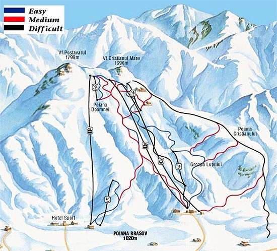 Poiana Brasov Piste Map Iglu Ski