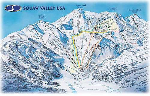 Squaw Valley piste map