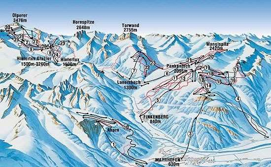 Finkenberg Austria  City new picture : Finkenberg Piste map | Finkenberg ski area map | Igluski.com
