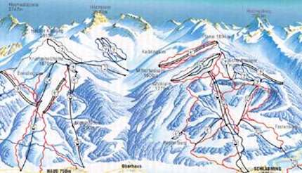 Schladming/Haus piste map
