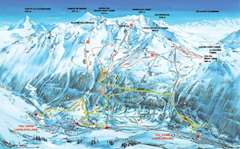 Val Cenis piste map