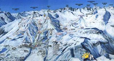 Orcieres piste map