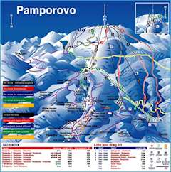 Pamporovo piste map