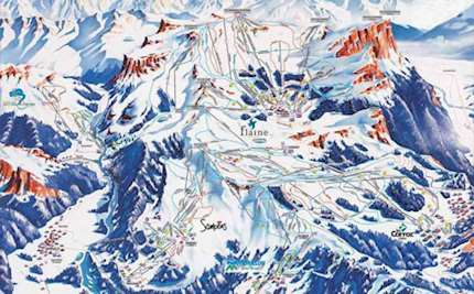 Samoens piste map