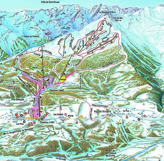 Puy-St-Vincent piste map