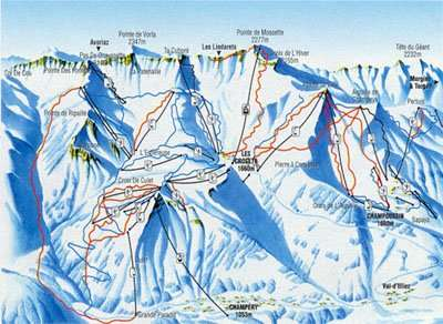 Torgon piste map