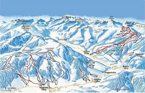 Wildschonau piste map