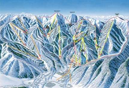 The Canyons piste map