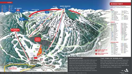 Red Mountain piste map