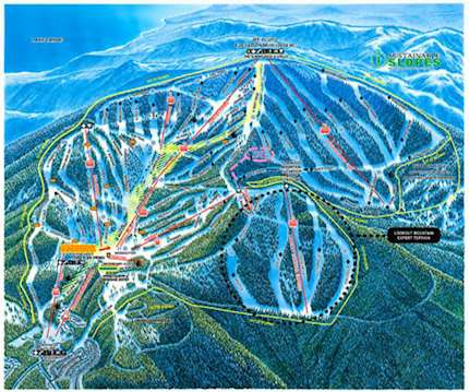 Northstar at Tahoe piste map