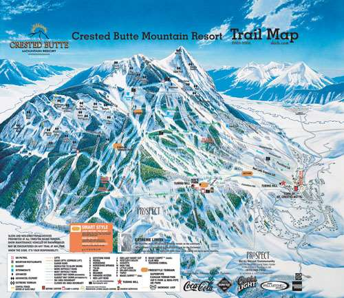 Crested Butte piste map