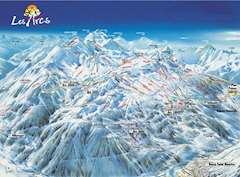 Bourg-St-Maurice piste map