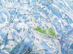 Oz en Oisans piste map