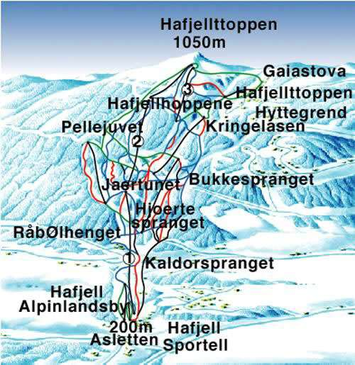 Lillehammer Hafjell Piste Map Iglu Ski