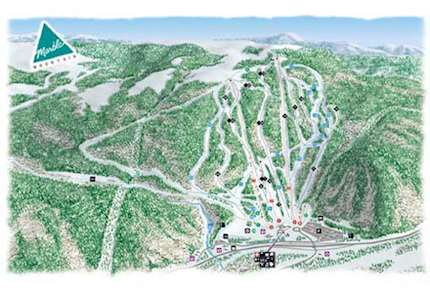 Marble Mountain piste map