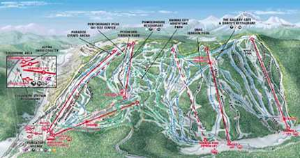 Durango Mountain Resort piste map