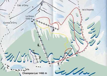 Champex piste map