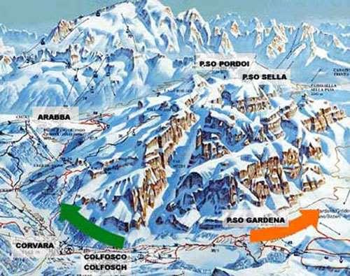 CorvaraColfosco Skiing holidays Ski holiday CorvaraColfosco