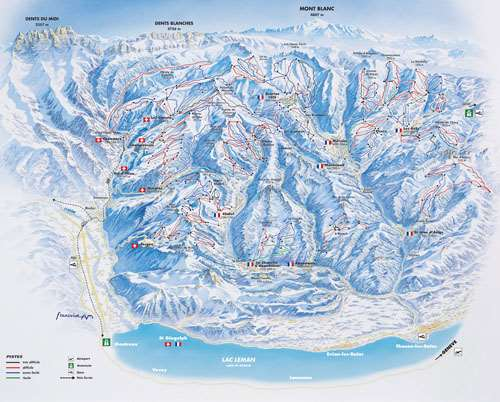 Ardent piste map