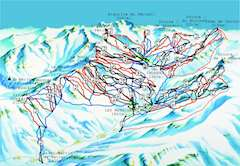 Reberty piste map