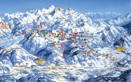 Bad Mitterndorf piste map