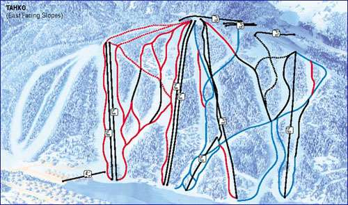 Tahko piste map