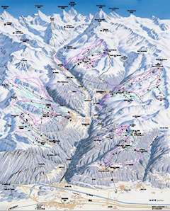 Grimentz piste map