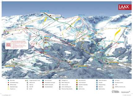 Flims Laax Piste Map