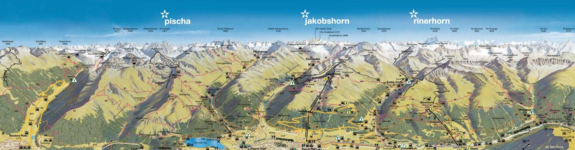 Davos Klosters Piste Map