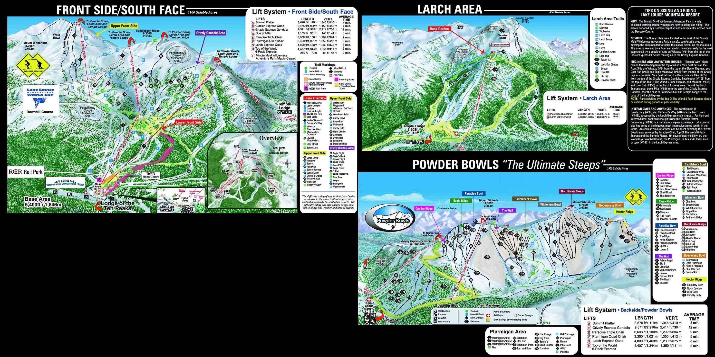 Ski Big Three Piste Map