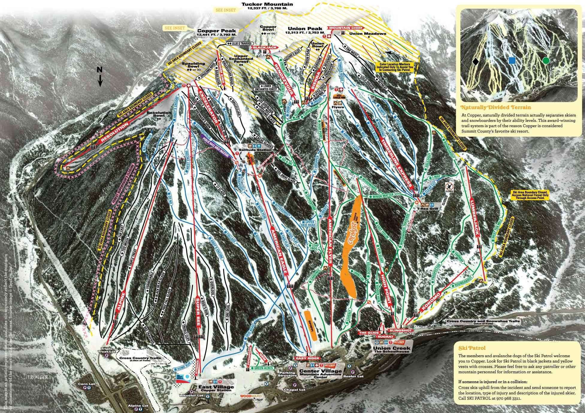 Copper Mountain piste map
