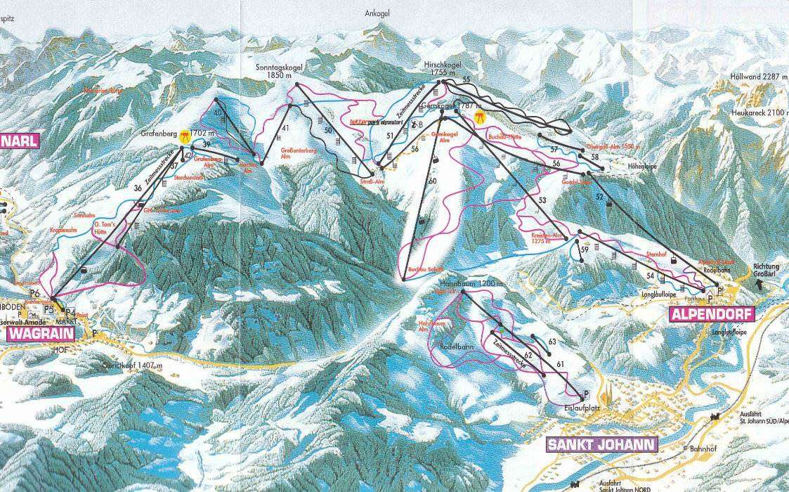 Alpendorf Piste Map