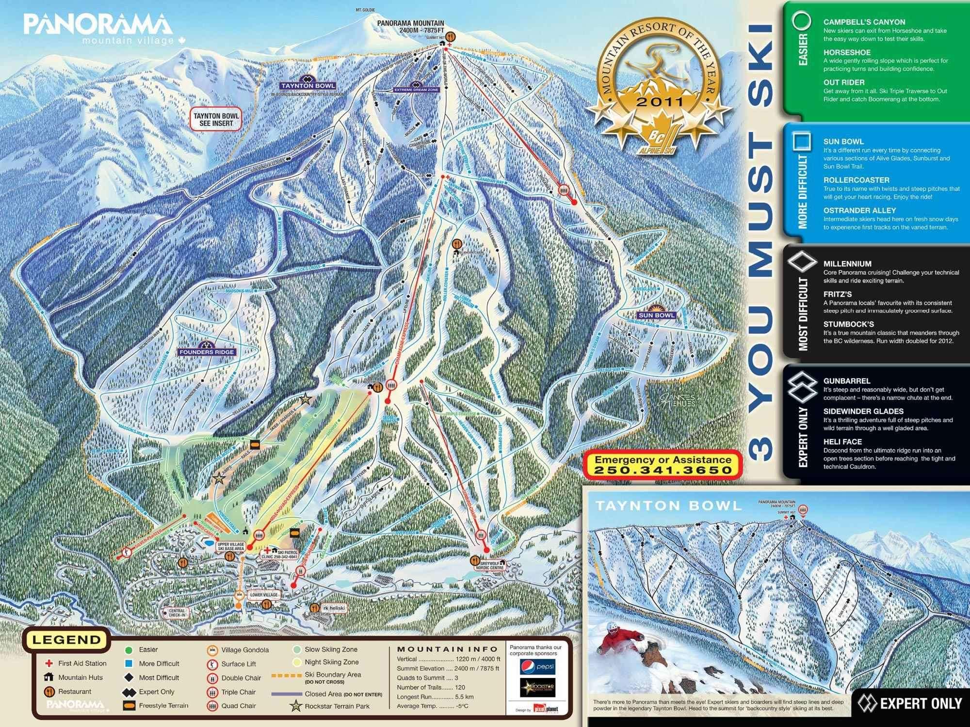 Panorama Piste Map Iglu Ski