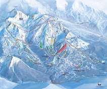 Courchevel 1550 Piste map