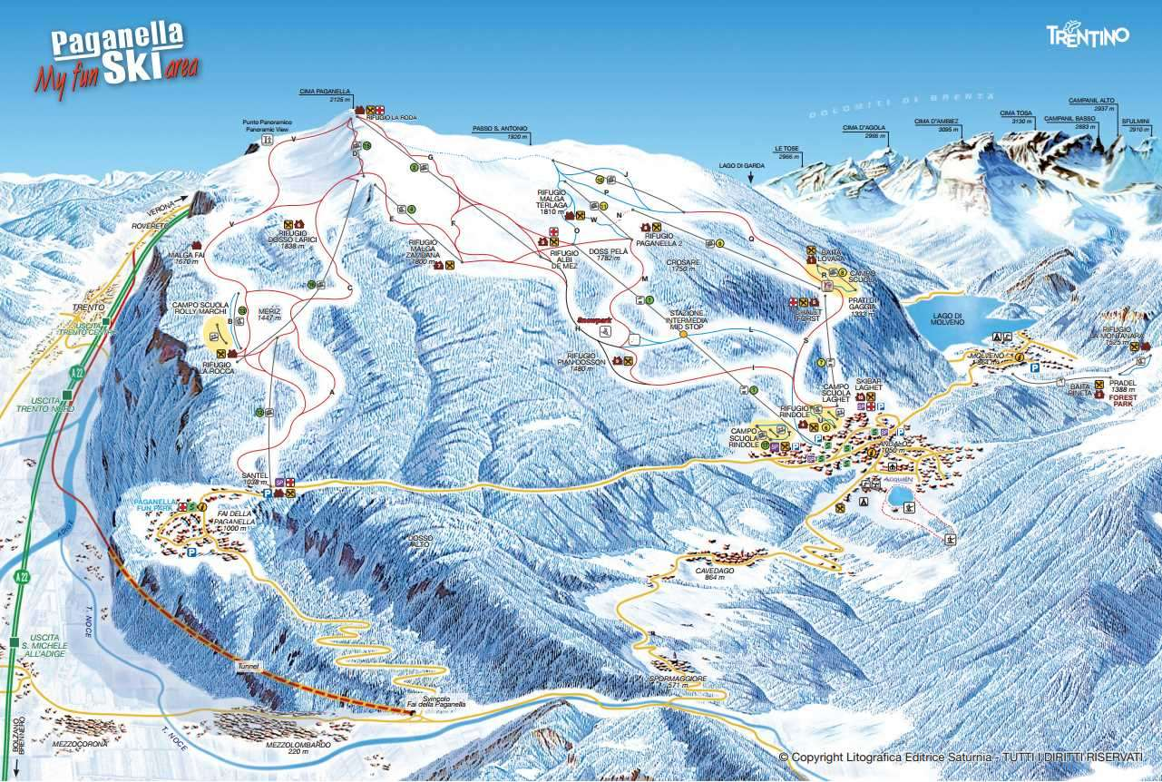 Paganella Piste Map