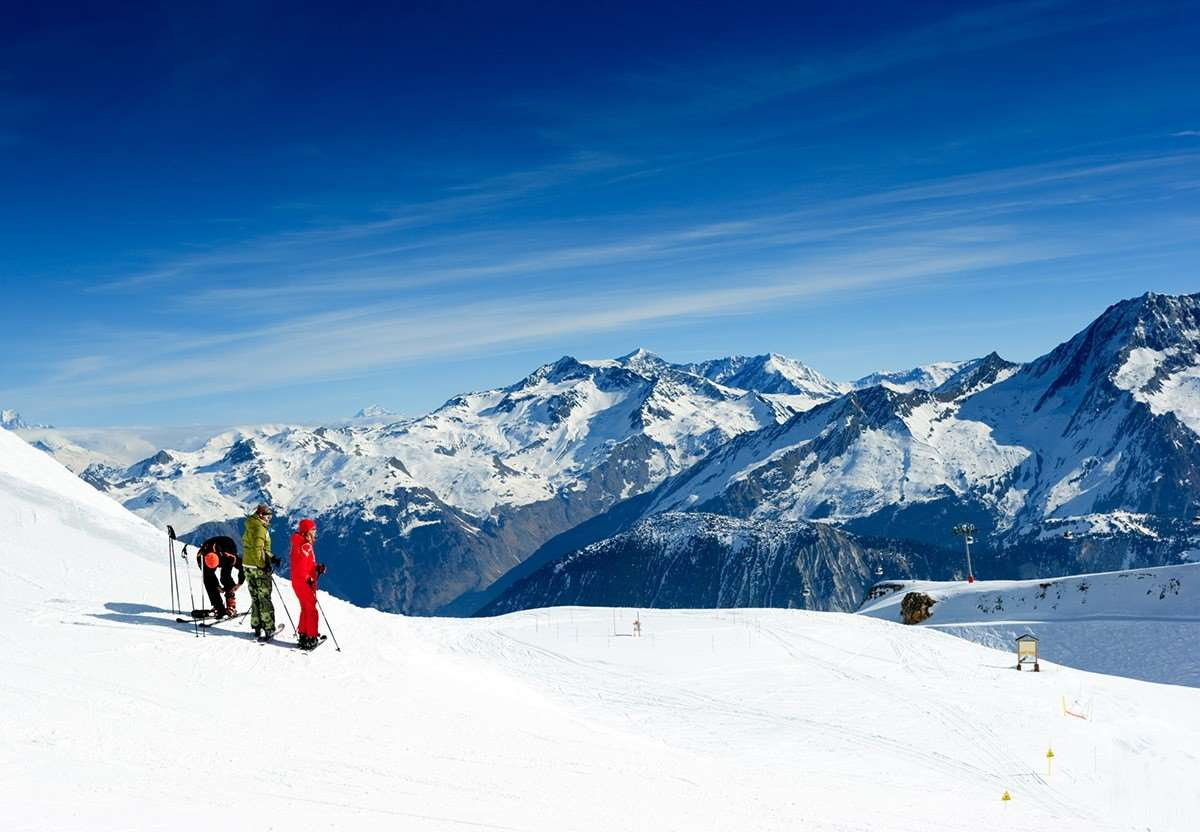 Skiers in Meribel, Three Valleys