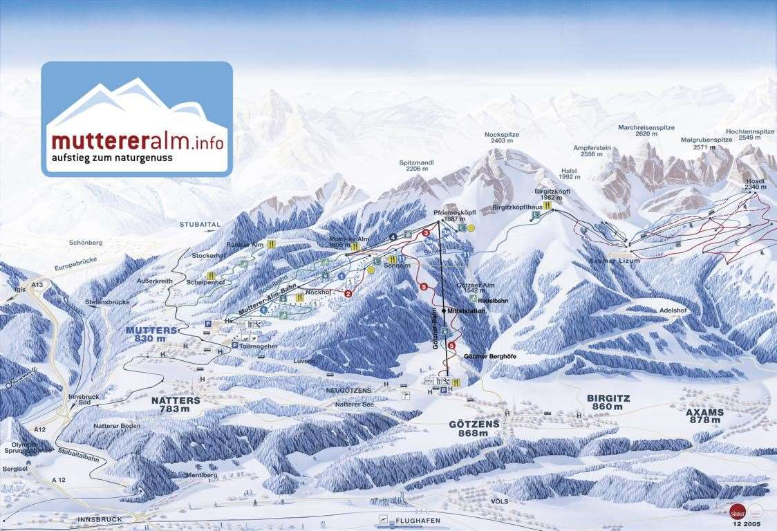 Götzens Piste Map