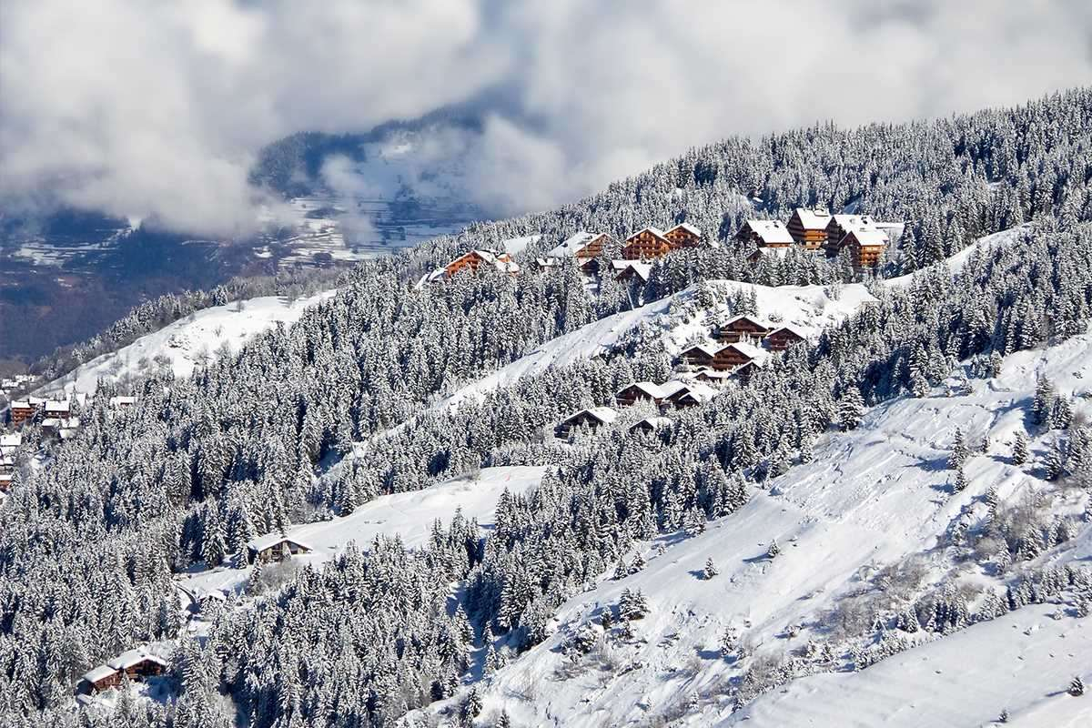 Ski slopes in Meribel