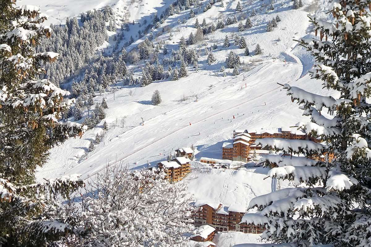 Snow in Meribel ski resort