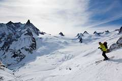 Skiing in Chamonix