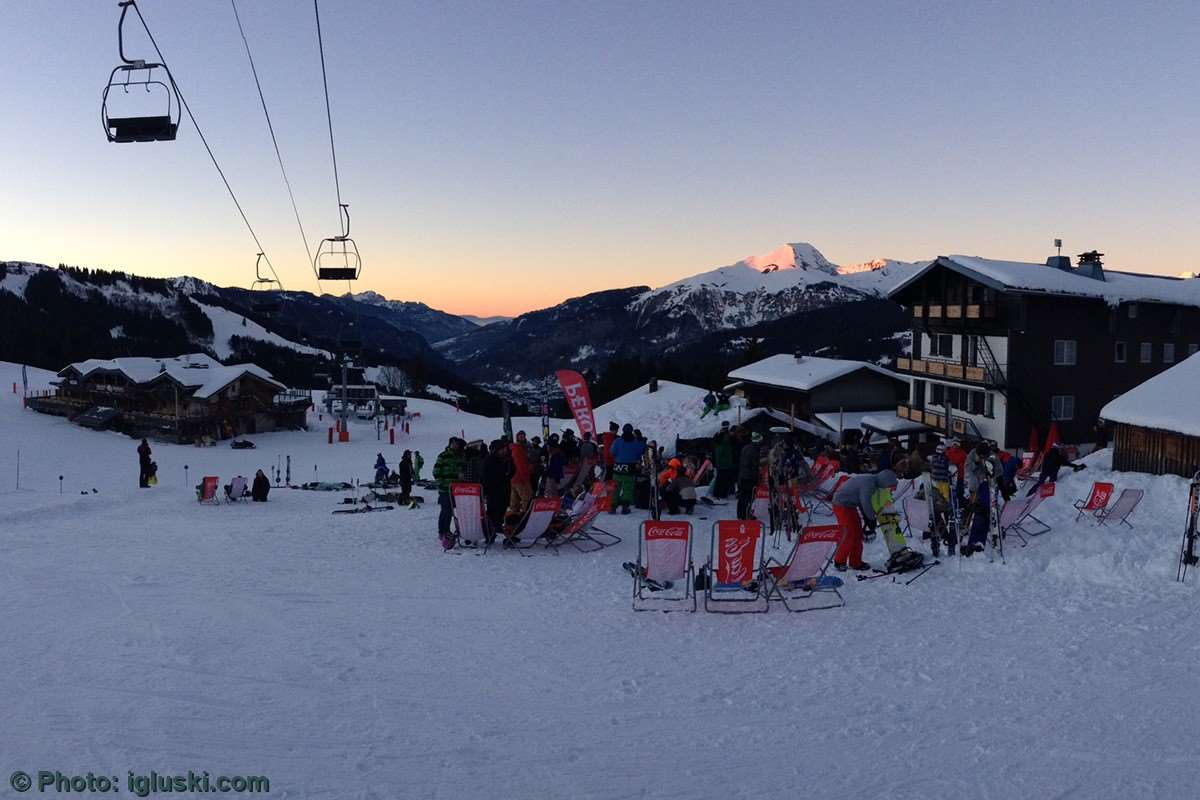 Mountain sunsets in Morzine