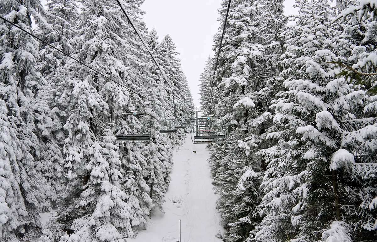 Snow in Borovets, Bulgaria