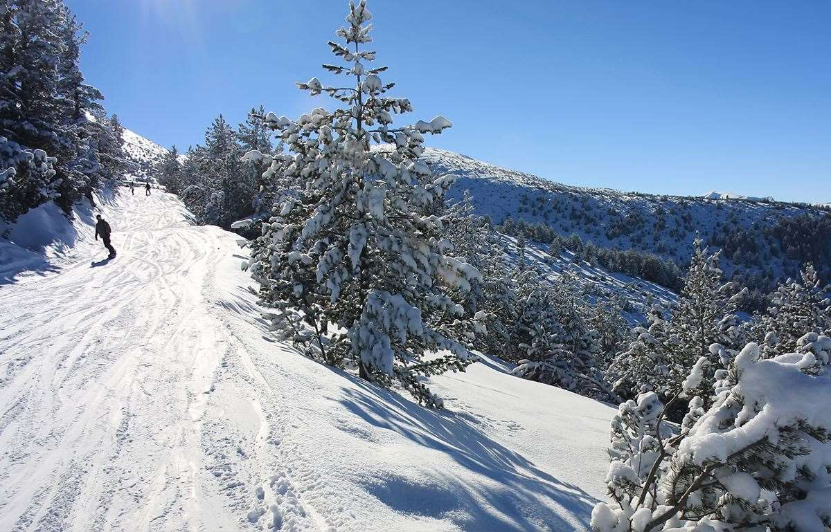Skiing in Borovets, Bulgaria